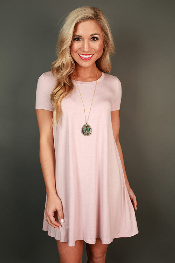 Shift So Sweet T-Shirt Dress in Rose Quartz