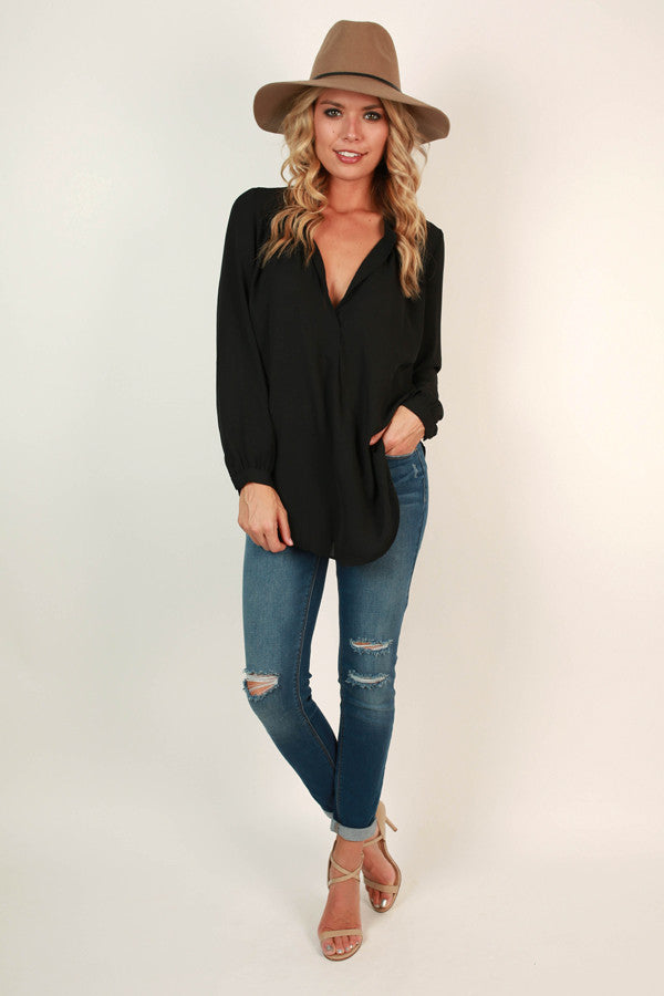 Juniper Darling Top in Black