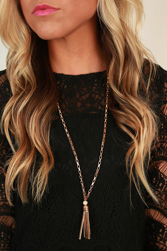 Pearl Me Pretty Tassel Necklace