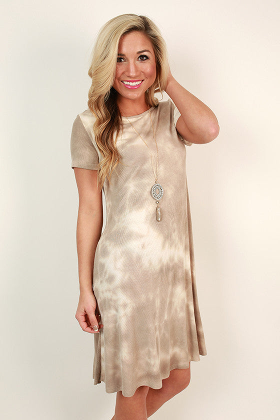 Twist & Tie Dye Shift Dress
