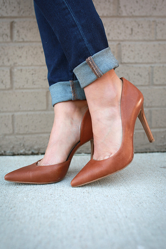 Claudette Leather Heel in Copper