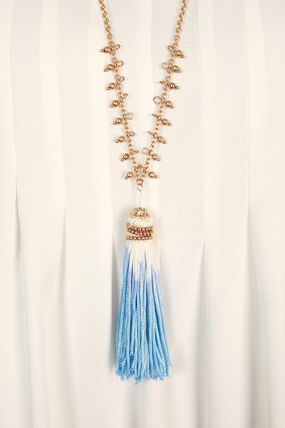 Timeless in Tuscany Tassel Necklace in Serenity