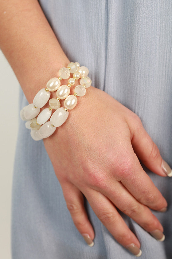 Sweet Dreams Precious Stone Bracelet in Ivory