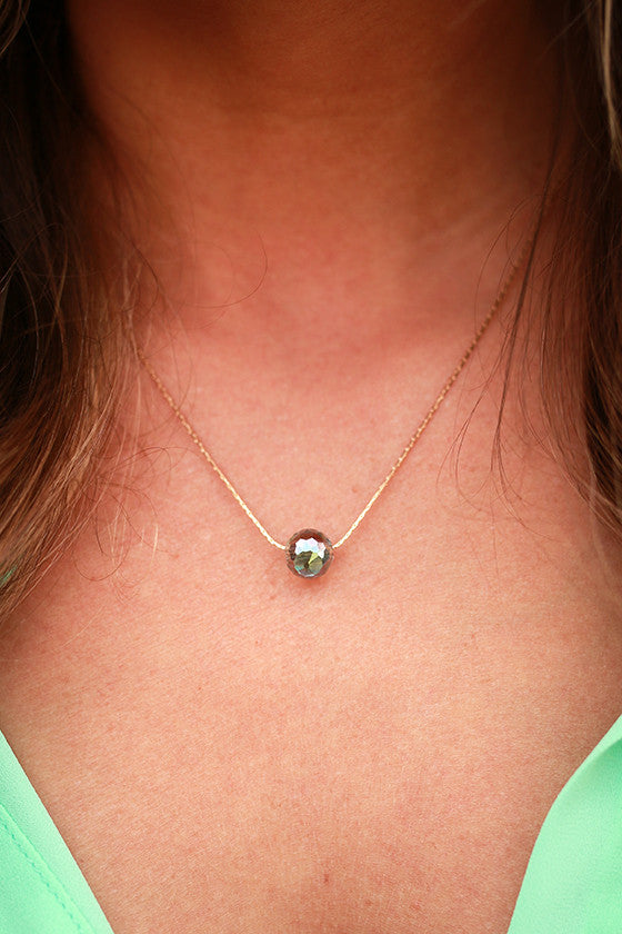 Charmed Life Crystal Necklace in Iridescent