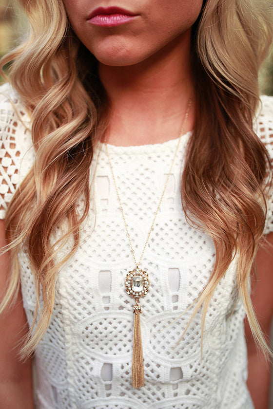 Soho Sparkle Necklace in Gold