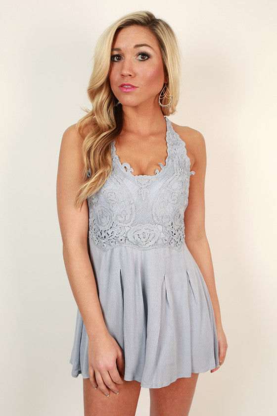 Lace yourself Romper in Serenity