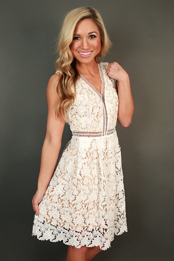 Princess Pristine Lace Fit & Flare