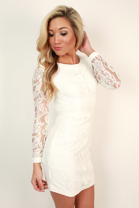Queen's Garden Lace Shift Dress