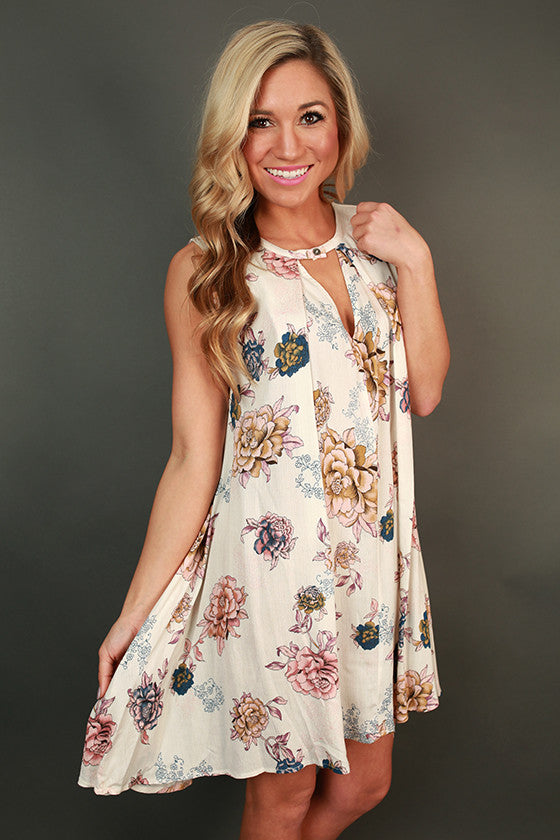 Paisley Boho Shift Dress