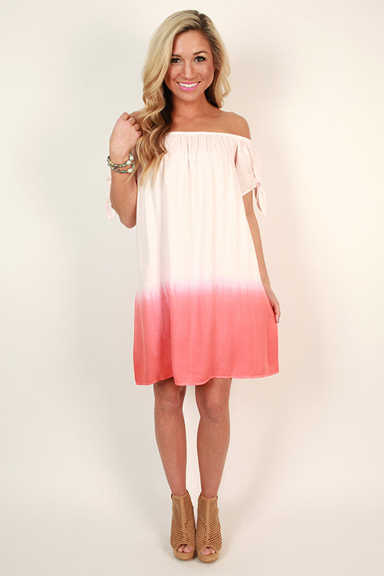 Margaritas On The Patio Shift Dress in Coral