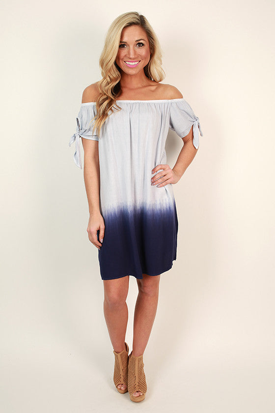 Margaritas On The Patio Shift Dress in Navy