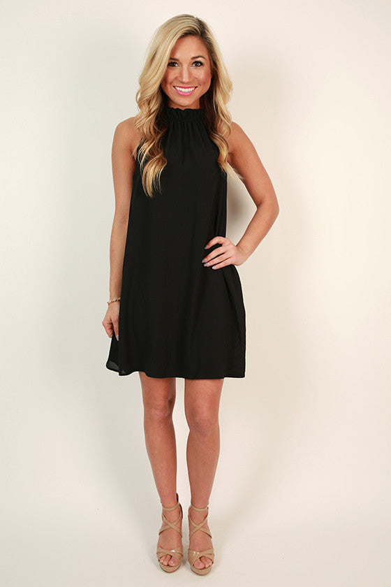 Pretty Prestige Shift Dress in Black