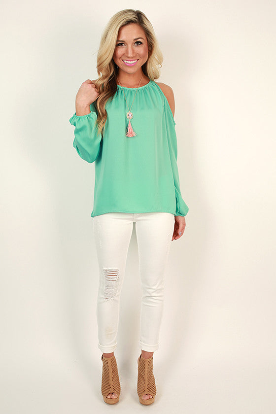 Game Changer Cold Shoulder Top