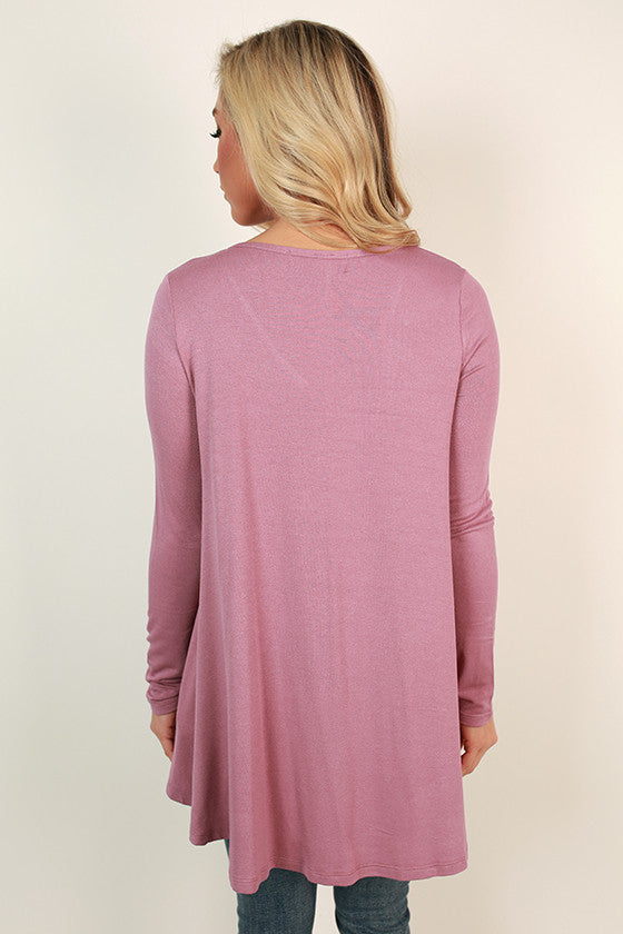 Love Letter V-Neck Tee in Violet