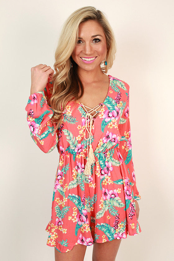 Vacation Transition Floral Romper