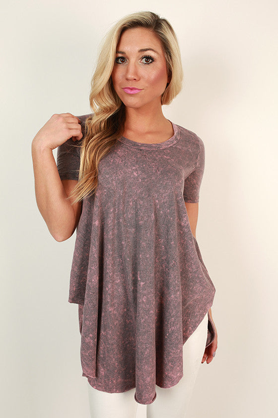Memories Made Mineral Wash Tee in Heirloom Lilac
