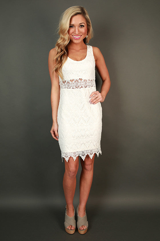 Mimosa Brunch Mini Dress in White