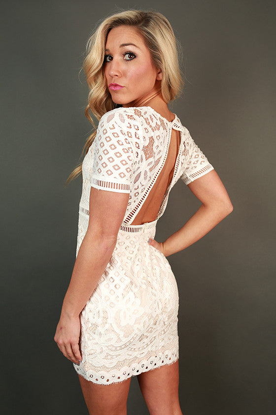 London Luxe Lace Mini Dress