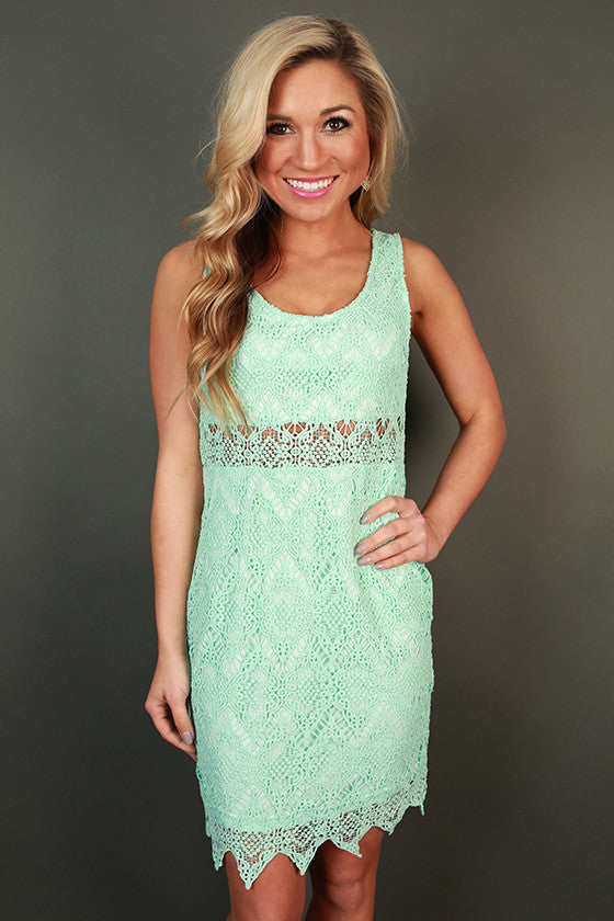 Mimosa Brunch Mini Dress in Aqua