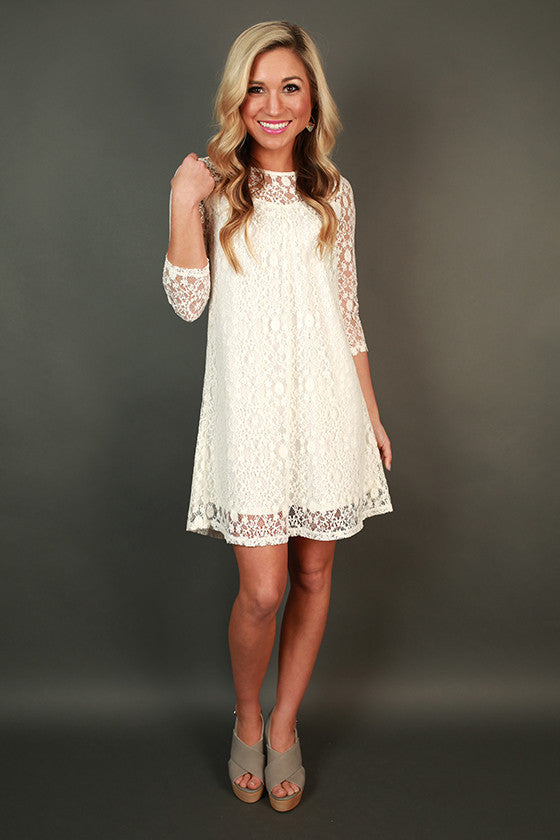 Sip & See Sweetheart Lace Shift Dress