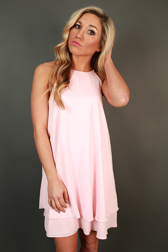 Brunch Date Shift Dress in Rose Quartz