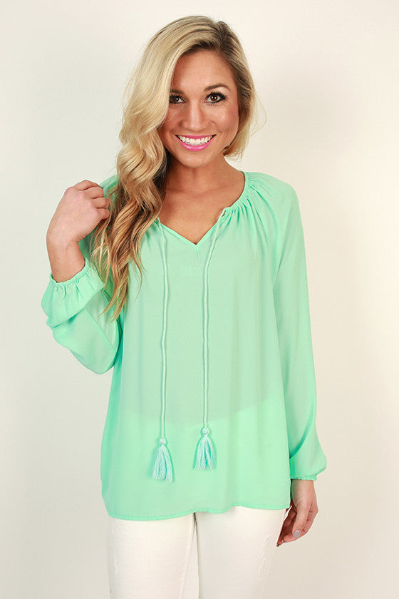 The Sophia Top in Sea Glass