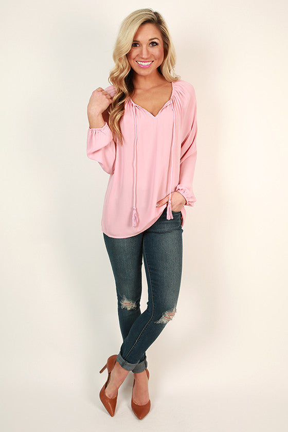 The Sophia Top in Rose Quartz