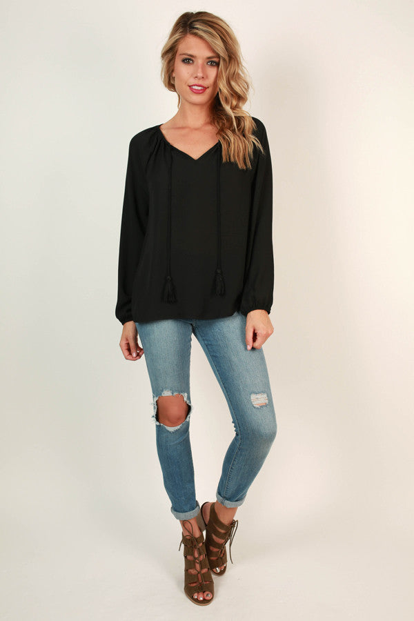 The Sophia Top in Black