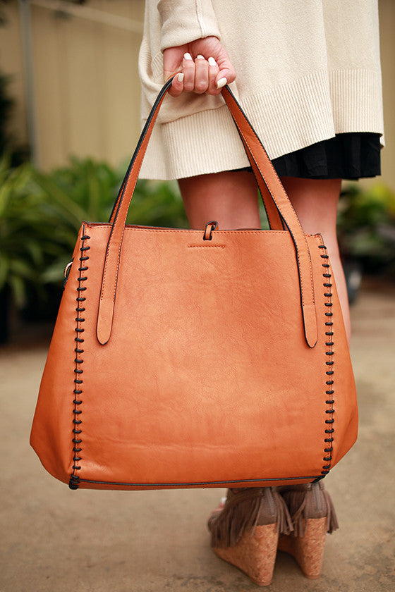 Well Traveled Tote Bag in Maple