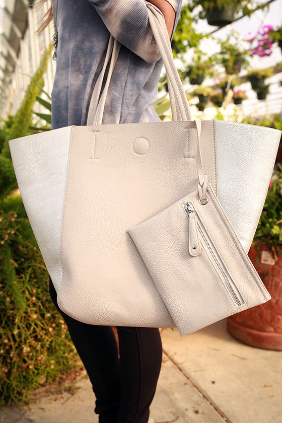 Weekend in Soho Tote in Silver