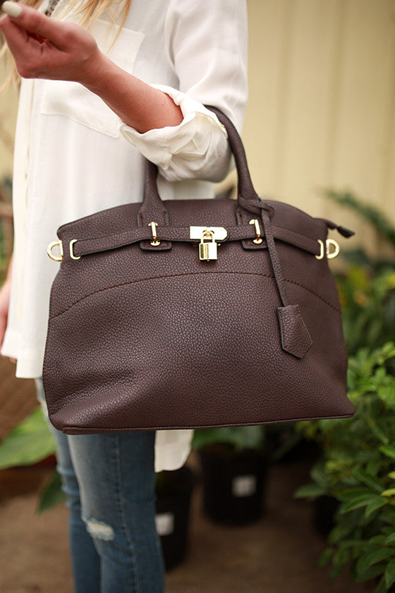 Broadway Bound Bag in Chestnut