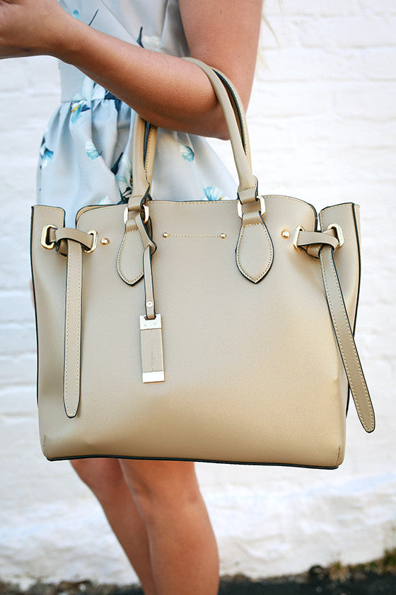 Best Interest Tote Bag in Beige