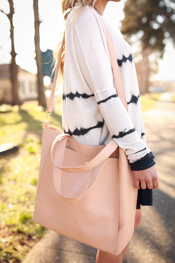 First Love Tote Bag in Nude