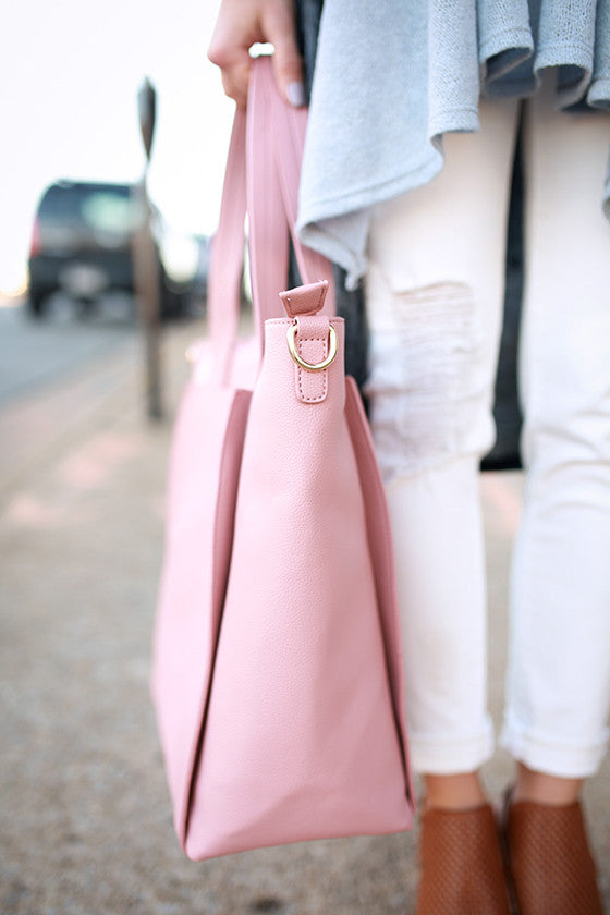 First Love Tote Bag in Blush