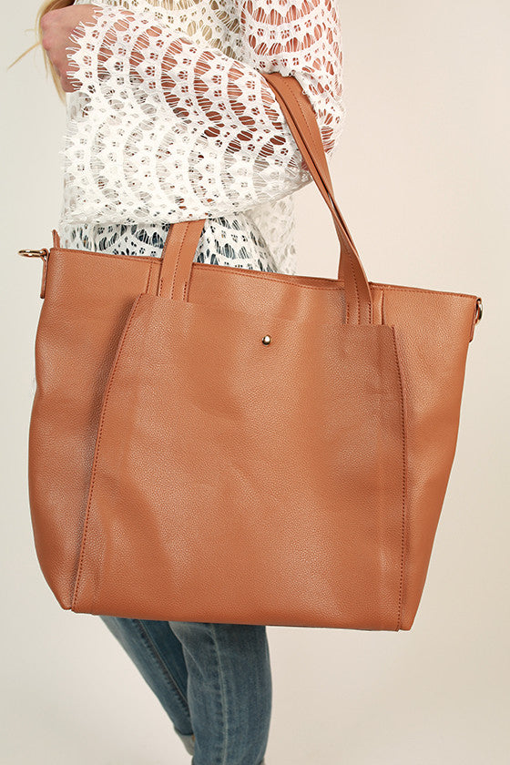 First Love Tote Bag in Camel