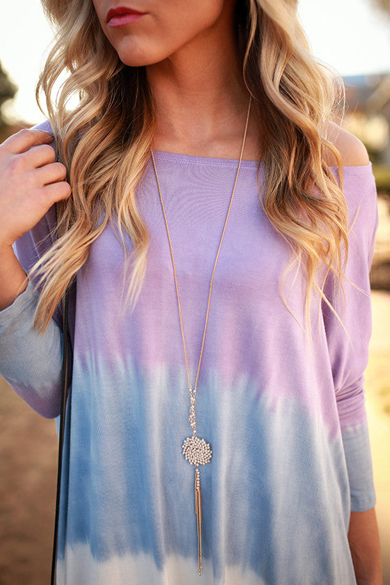 Catch Me If Ya Can Tassel Necklace in Ivory