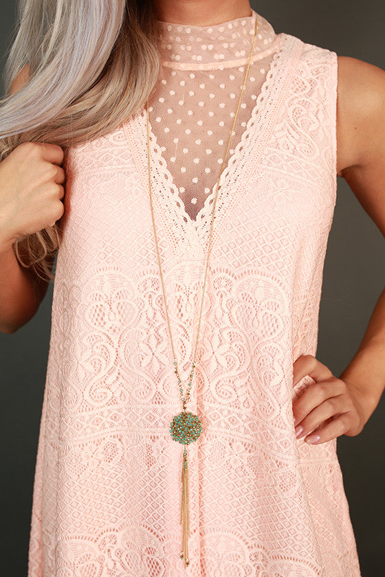 Catch Me If Ya Can Tassel Necklace in Ocean Wave