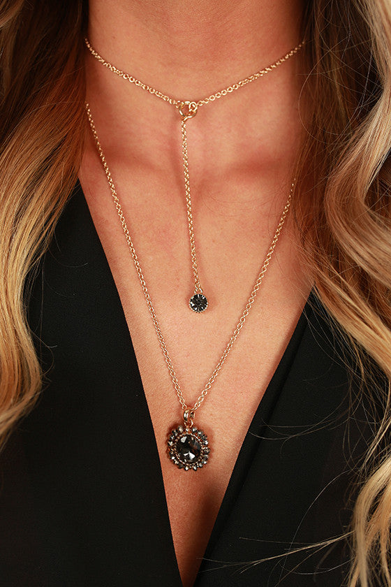 True Love Necklace in Black