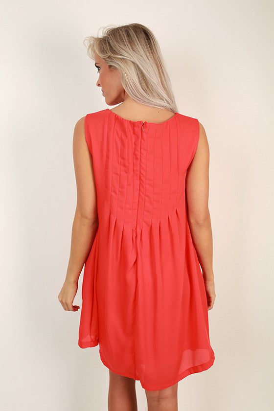 Midnight in Paris Shift Dress in Red