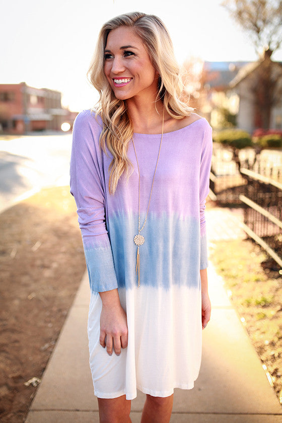 Ombre Watercolor Tunic in Lavender
