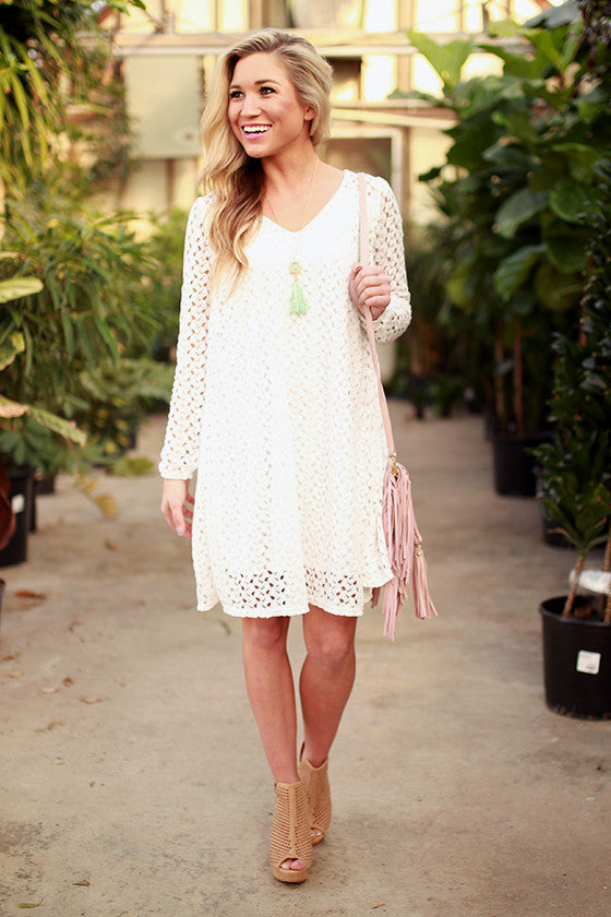 Shift Sweetness Lace Dress
