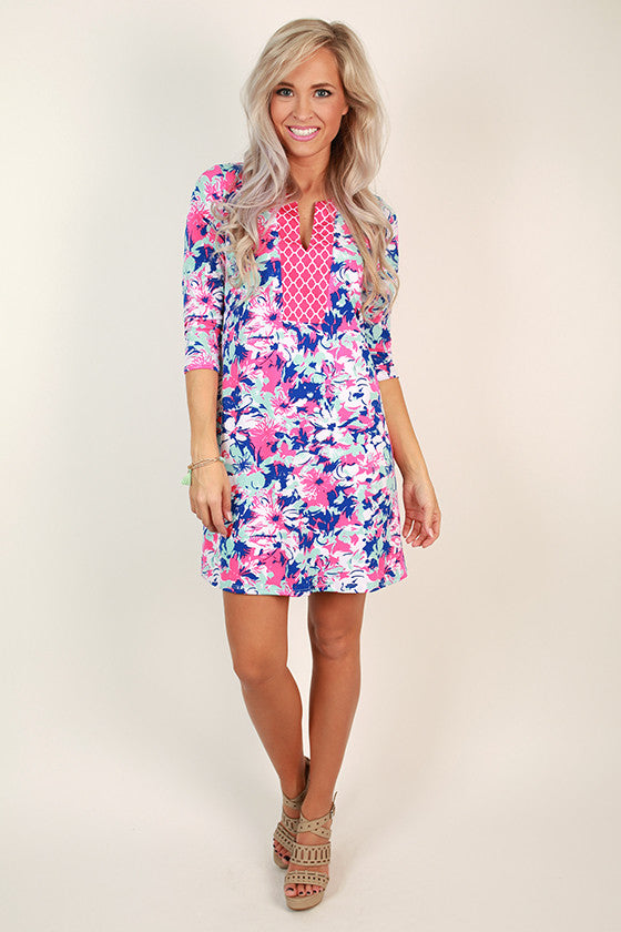 Floral Prep Shift Dress
