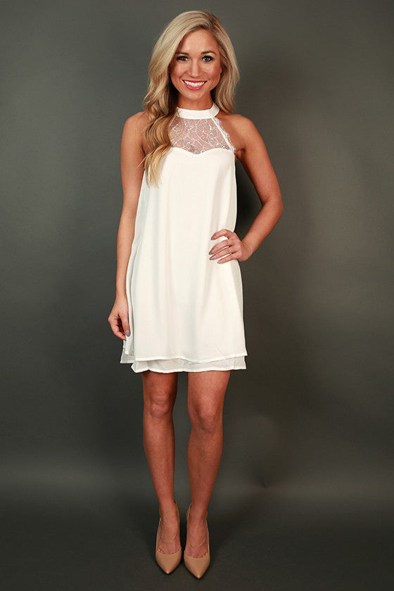 Kiss Kiss Lace Shift Dress