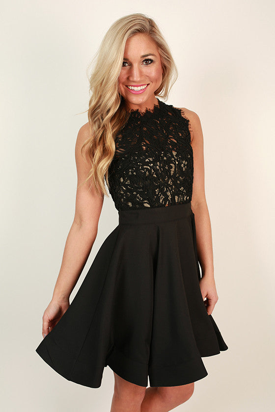 Love Me Like You Do Dress in Black