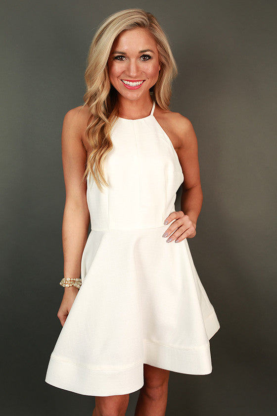 Heartbreaker Fit & Flare Dress in White