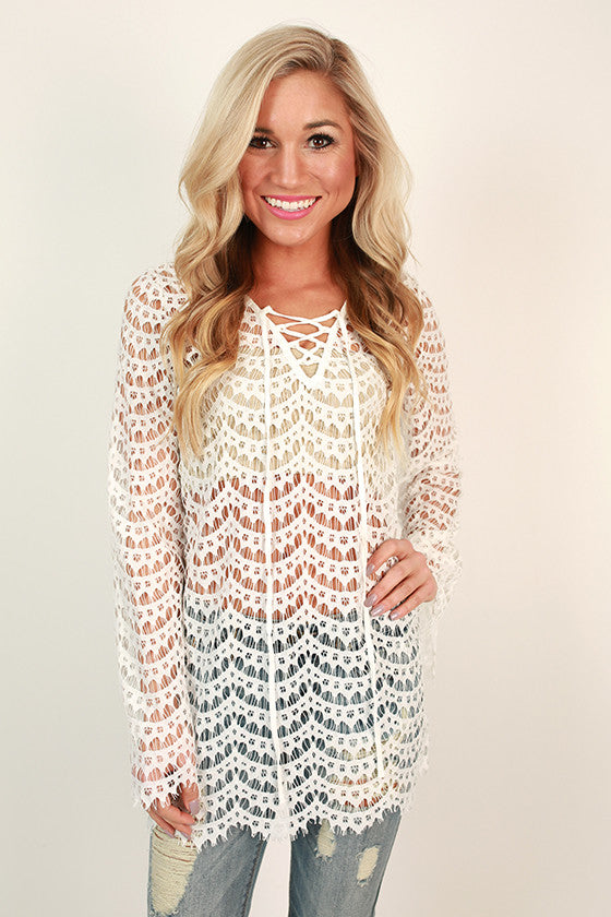 The Royal Treatment Lace Tunic