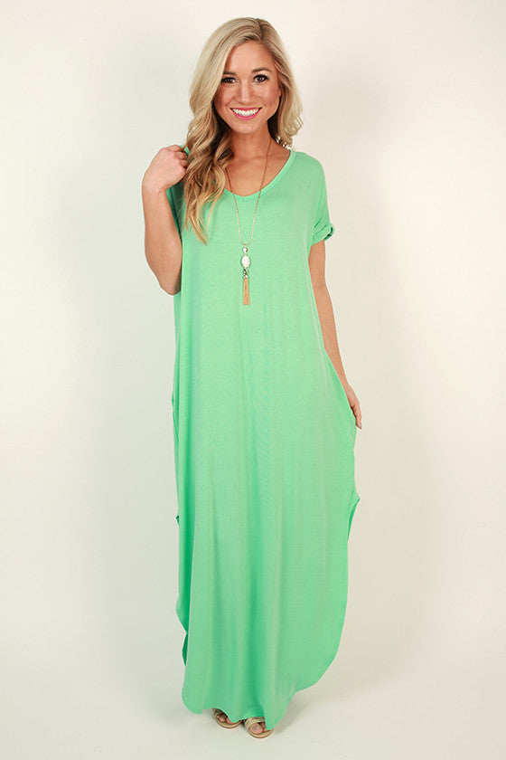 Beachy Keen T-shirt Maxi in Mint