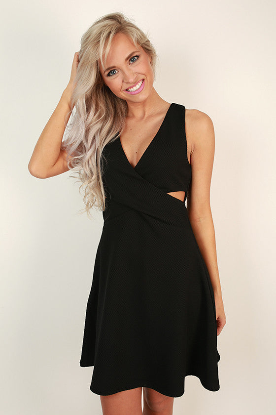 Vino At Versailles Cut Out Dress in Black
