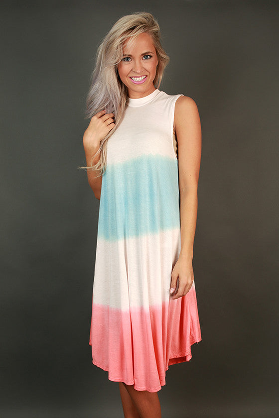 Coastal Adorable Shift Dress in Peach Echo