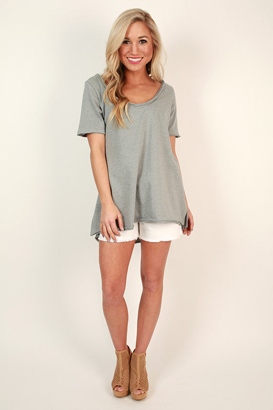Cuddles Cove Terry Top in Grey
